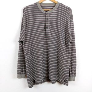 Vtg Lee Sport Striped Longsleeve Henley 90s Tshirt